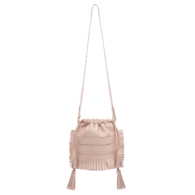 Shopping handtassen Marie Martens Bali mini bucket nude