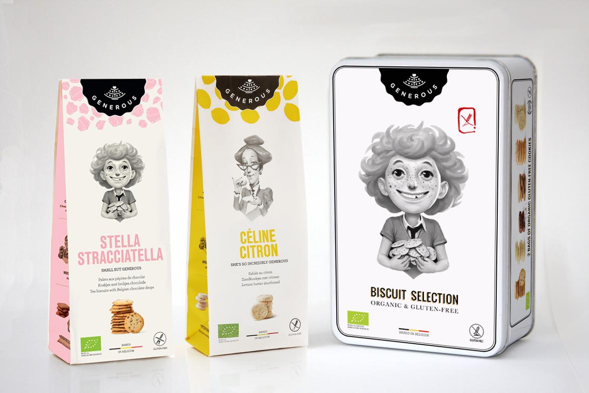 Belgische biolabels generous glutenvrije koekjes