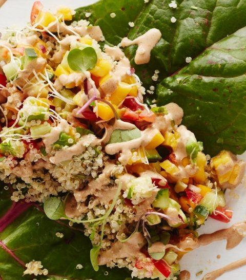Easy Vegan Challenge: Quinoa wraps met Mango-Avocadosalsa
