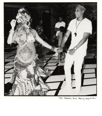 Beyoncé babyshower push party Blue Ivy Carters zwanger tweeling