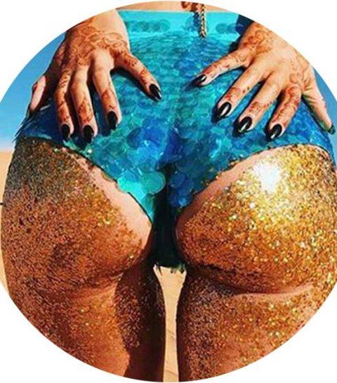 Bizarre trend: booty glitter is de nieuwste beach hype