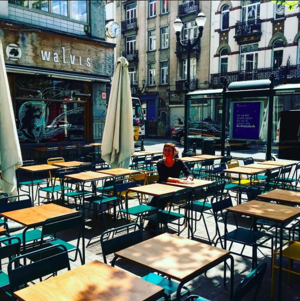 Café Walvis leukste terrasjes van Brussel