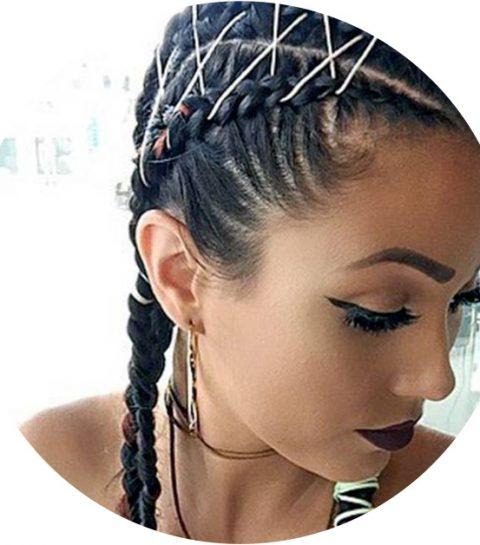Corset braids: dit is de vrolijkste haartrend van de zomer