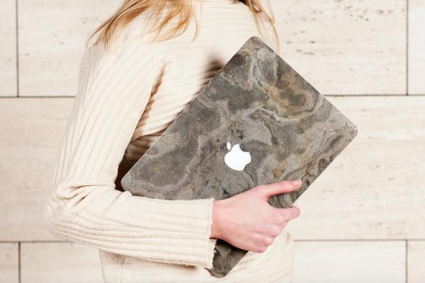 Bambooti marmeren stenen laptopcase