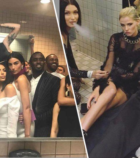 Dit gebeurde er in de toiletten tijdens het Met Gala
