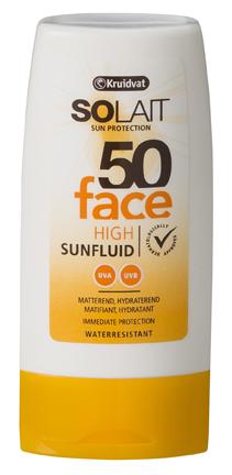 Kruidvat_Solait Face Sun fluid SPF50 (zonder doosje)_€7,49