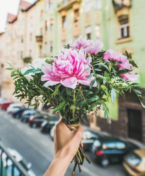 Flower Power bloemen dag van het eenzame boeket