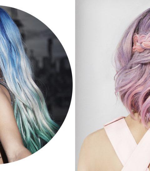 Seashell hair stoot unicorn lokken van de troon