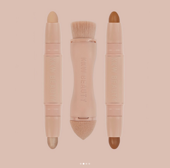 crème contour highlighting kit kkw beauty