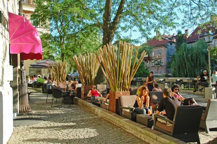 Ljubljana, groene terrasjesstad (c) Wedam