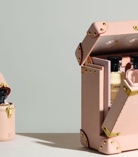 WE LOVE: de poederroze parfumkoffers van Louis Vuitton