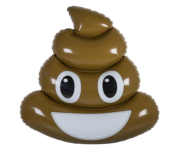 opblaasbaar lachend kakse emoji pool zwembad