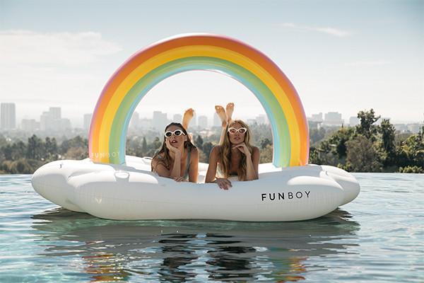 opblaasbaar speeldgoed regenboog funboy