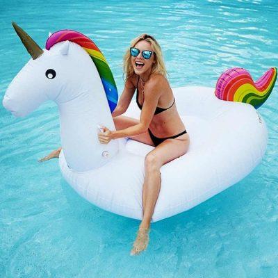 regenboog shopping rainbow unicorn eenhoorn luchtbed opblaasbaar opblaasbare zwembad luchtmatras