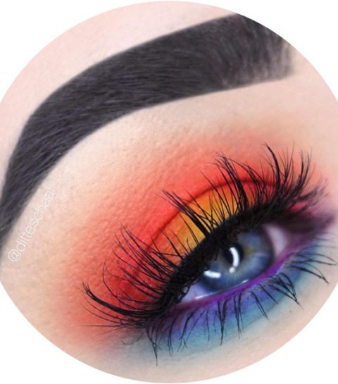 Beauty trend: kleurrijke sunset eye shadow