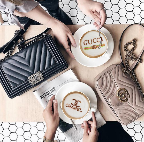 Latte, designer, coffee, fashion, trend