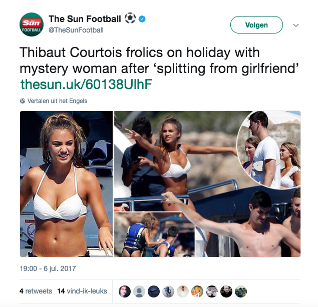 Thibaut Courtois strikt beste vriendin Kim Kardashian - 1