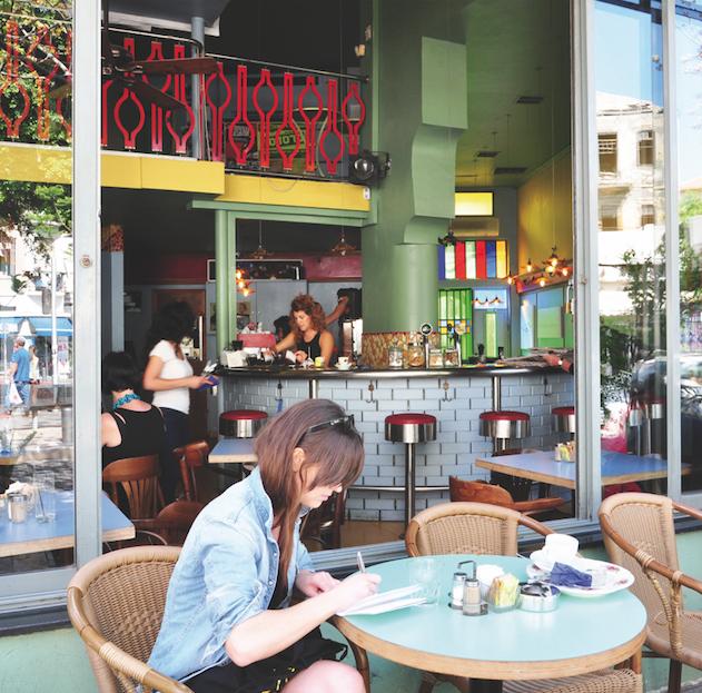 Tel Aviv,Cafe Bialik,bar,ontbijt,live muziek,Bialik street
