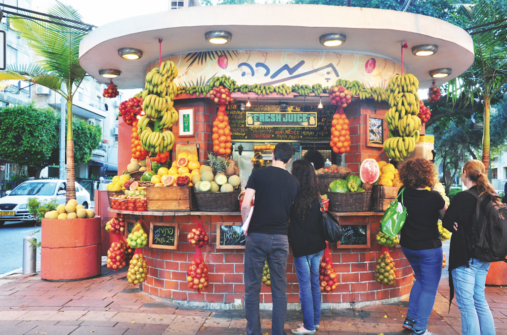 Tel Aviv,fruitkraam,sapjes,Dizengoff,Ben Gurion,citytrip