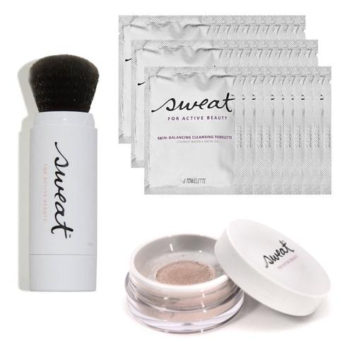 athleisure beauty sweat cosmetics