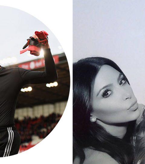 Thibaut Courtois strikt beste vriendin Kim Kardashian