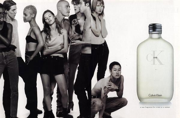 parfums jaren 90 ck one calvin klein campagne kate moss