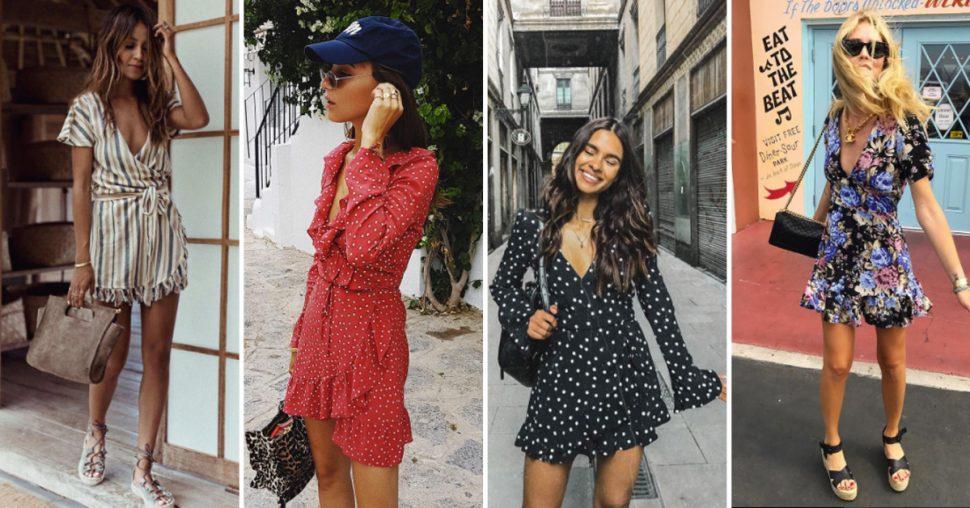 De meest populaire wrap dresses op Instagram