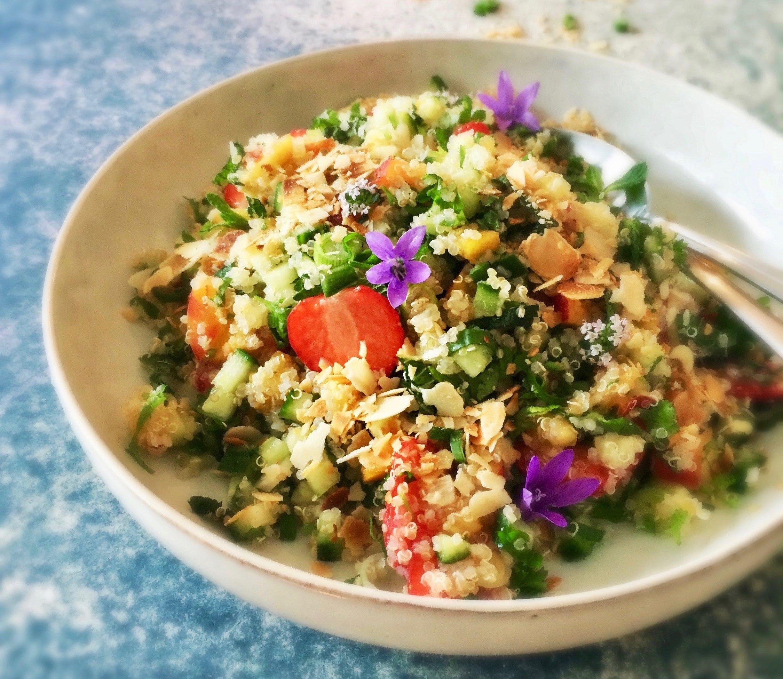 Zomerse Quinoa Tabbouleh met Aardbei - 1