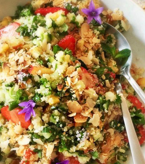Zomerse Quinoa Tabbouleh met Aardbei