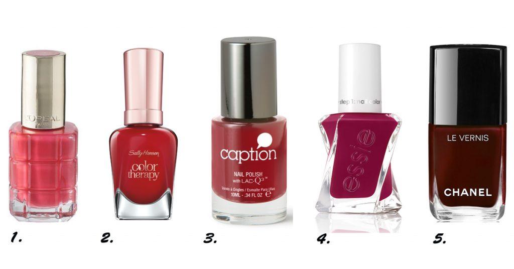 iconische nagellak kleuren rood chanel sally hansen caption essie