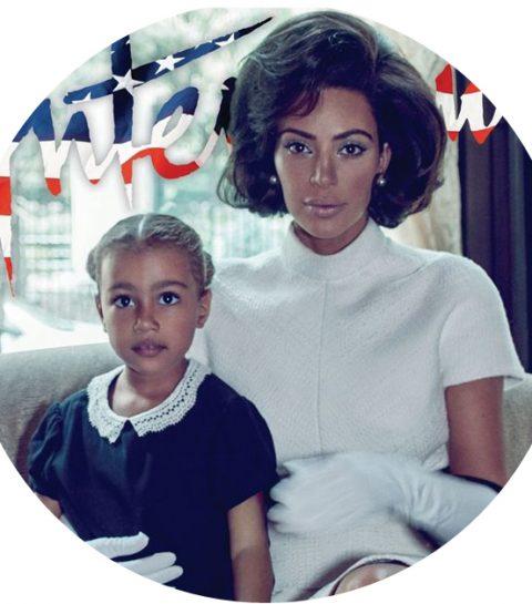 Kim Kardashian poseert als Jackie O voor Interview Magazine