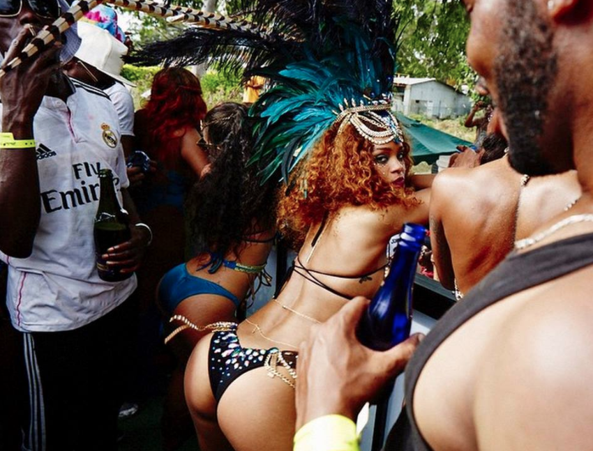 Rihanna Crop Over Crawpova wukking up barbados festival