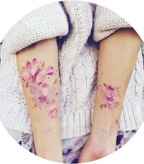 Pinspiration: kleurrijke water colour tattoos