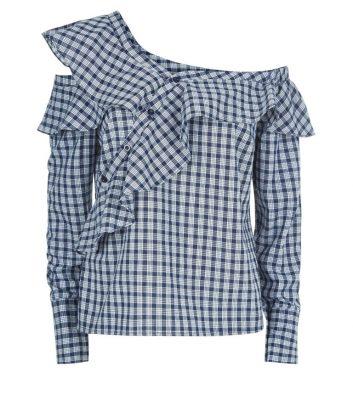 donkerblauw-assymetrisch-geruit-hemd-met-franjes