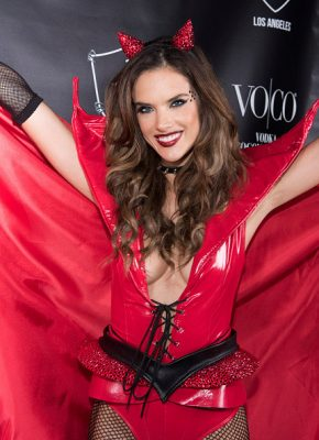 VO|CO Presents Alessandra Ambrosio's Heaven And Hell Halloween Party At 1OAK Los Angeles