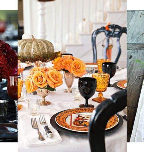 halloween tafels decoratie