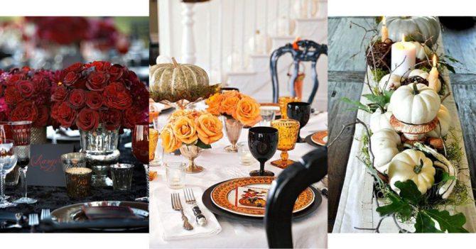 Heel erg chique tafels voor halloween