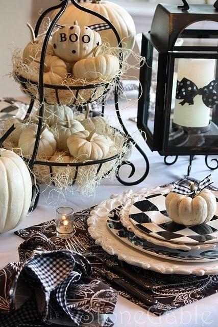 15 (heel erg chique) Halloween tafels - 10