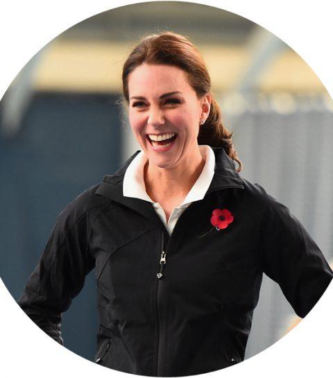 Ook Kate Middleton draagt wel eens een jogging