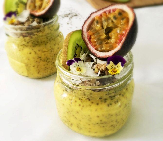 Gezond Ontbijt: Mango Kokos Chiapudding | Slechts 4 Ingrediënten! (Vegan) - 1