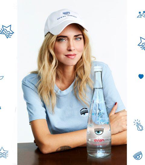 Stijlicoon Chiara Ferragni ontwerpt flessen voor evian® Limited Edition