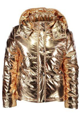 shopping goud gold jas jacket shiny bomber dons glamorous zalando