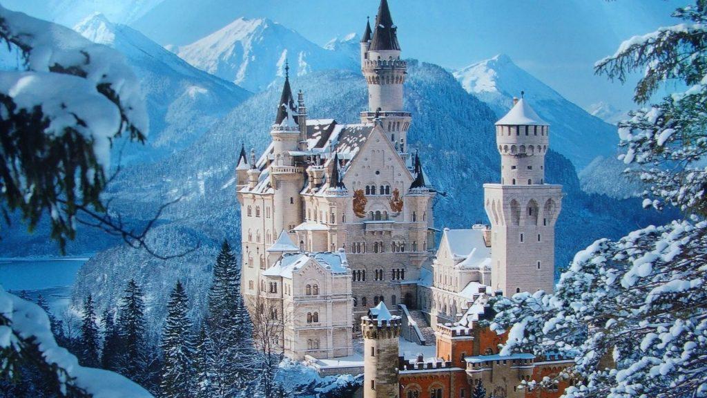 winter, reizen, bestemming, top 10, sneeuw, natuur, citytrip, neuschwanstein, duitsland