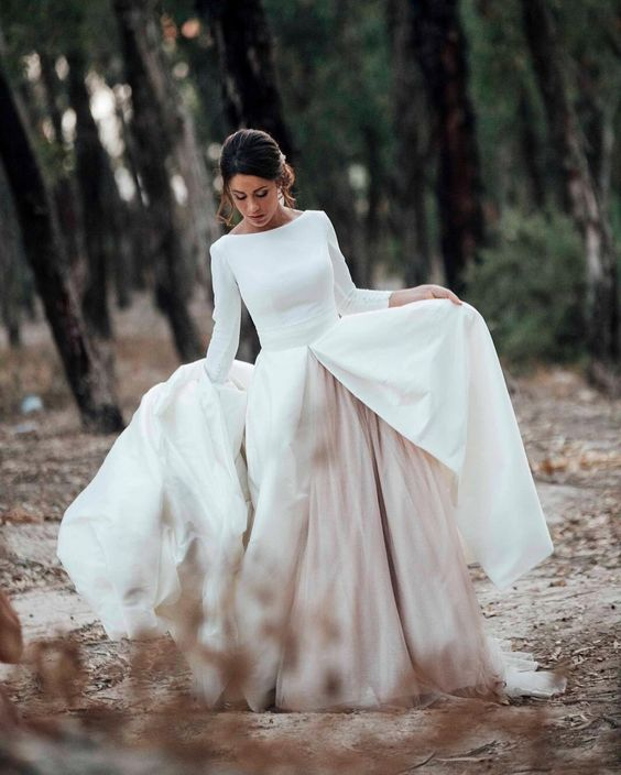 winter bruidsjurk