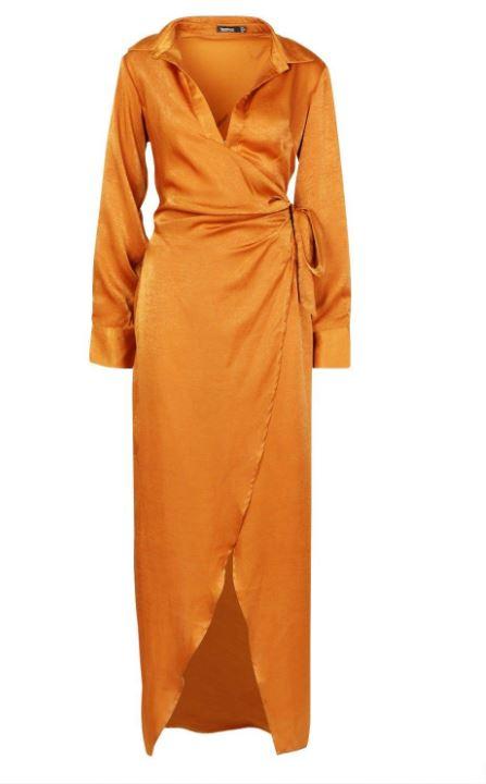 boohoo lange jurk