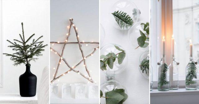 Minimalistische en chique decoratie ideëen voor kerst