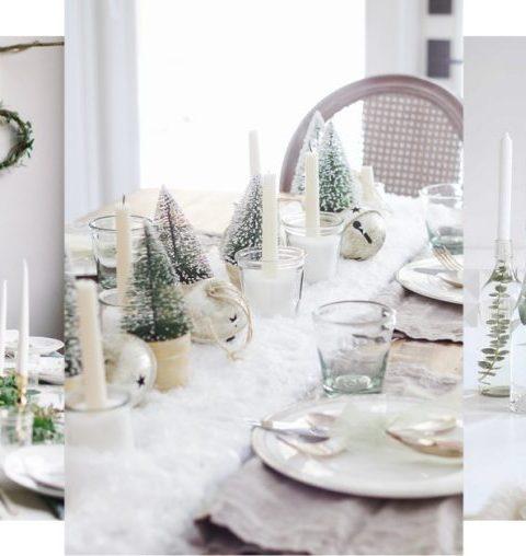 30 X De mooiste ideeën voor een sneeuwwitte kersttafel!