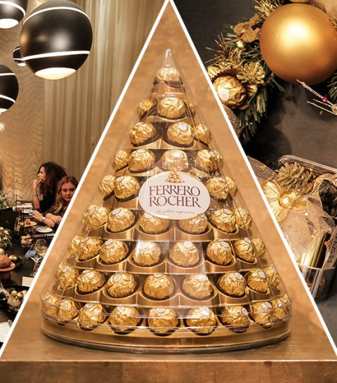 Herbeleef het golden dinner van ELLE x Ferrero Rocher