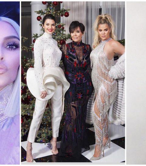 Kris Jenner gaf een decadent kerstfeestje (en Kylie was er niet bij)