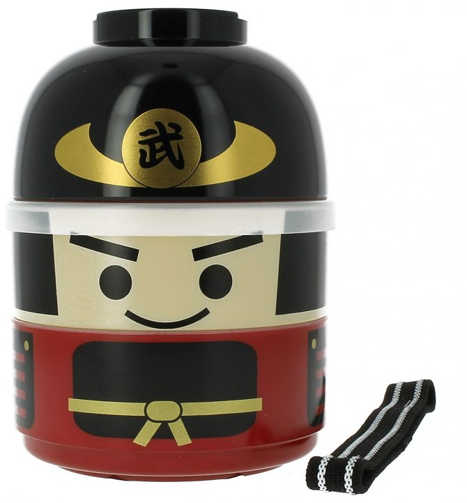 kerst, cadeau, samurai, bento, box